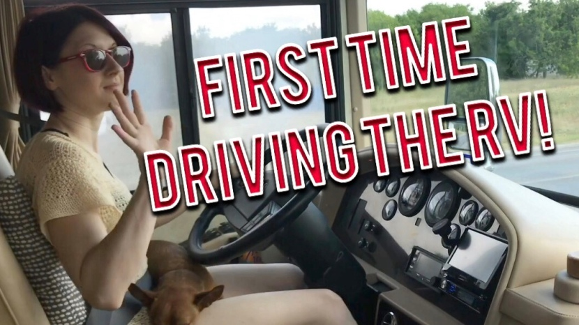 How to Drive a Large RV – First Time Driving Our 40 Foot Long RV (in Port Lavaca,Texas)